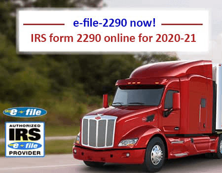 IRS FORM 2290 for 2020-21